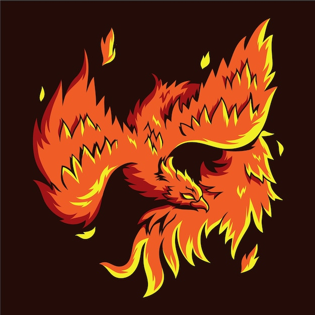 Phoenix hand drawn Free Vector