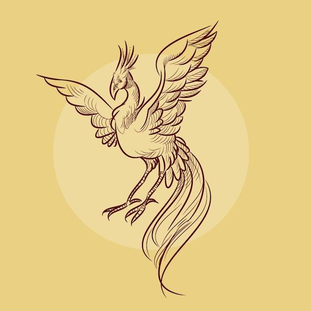 Phoenix illustration Free Vector