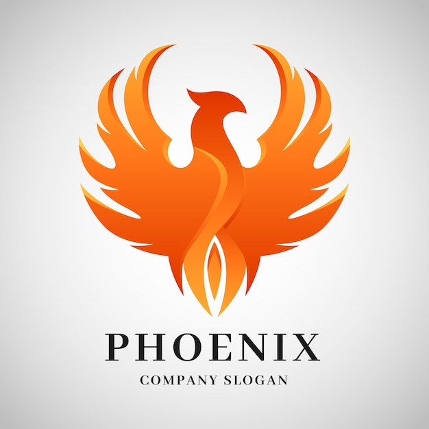 Концепция логотипа феникс Бесплатные векторы