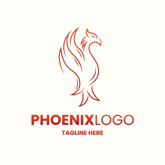 Phoenix logo concept Free Vector