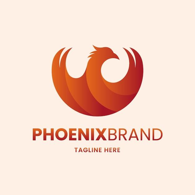 Phoenix logo concept Premium Vector