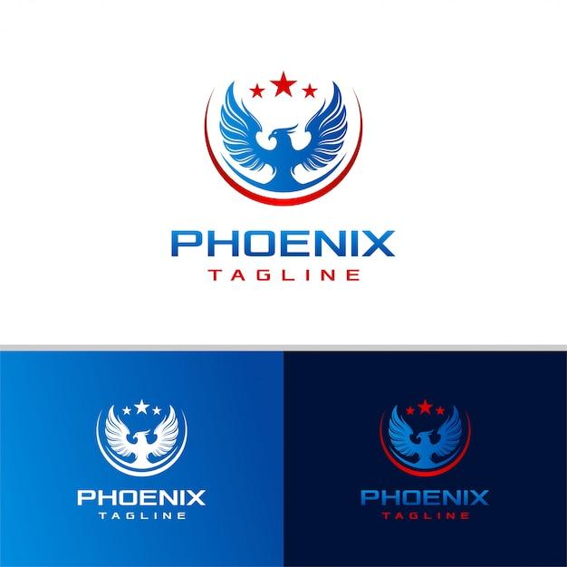 フェニックスのロゴデザインテンプレート Premiumベクター