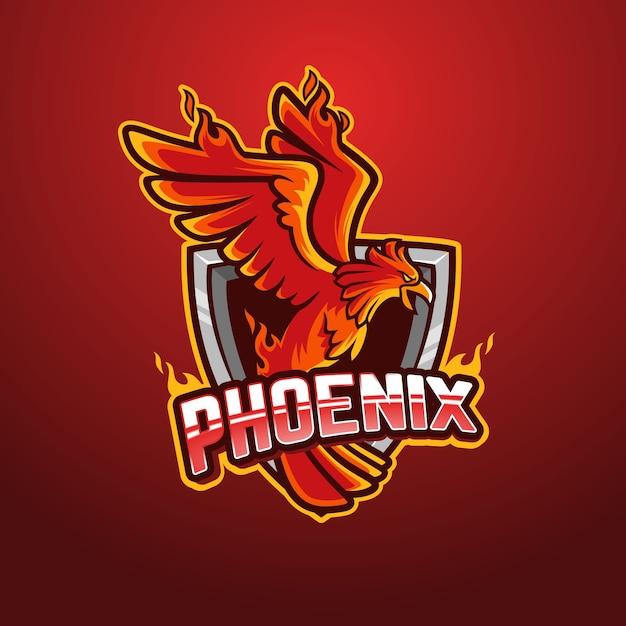 Phoenix logo design Premium Vector
