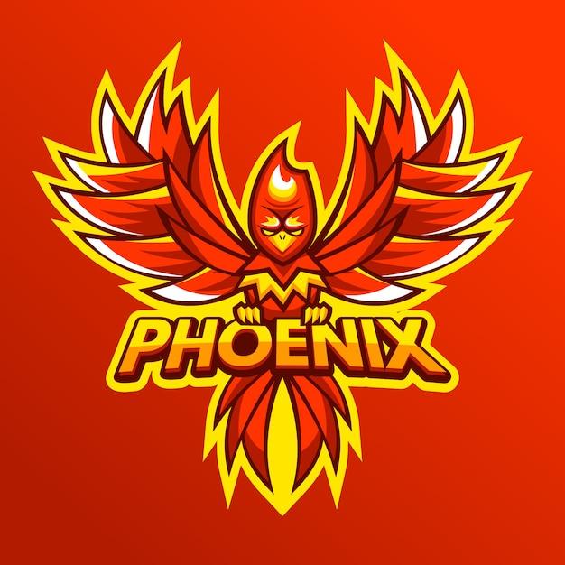 Феникс логотип рисованной дизайн Бесплатные векторы