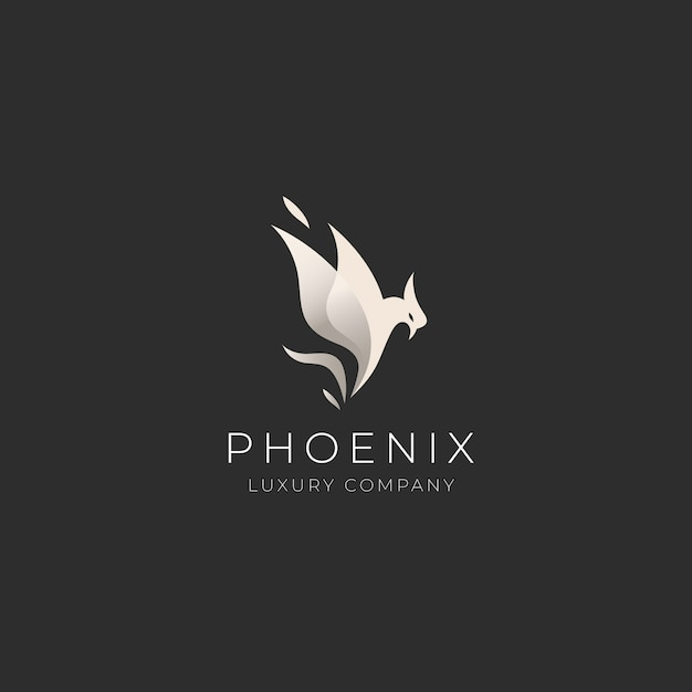 Phoenix logo template Free Vector