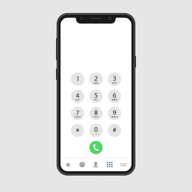 Phone call screen Premium Vector