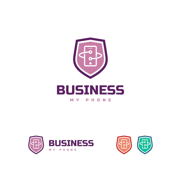 Phone logo template Premium Vector