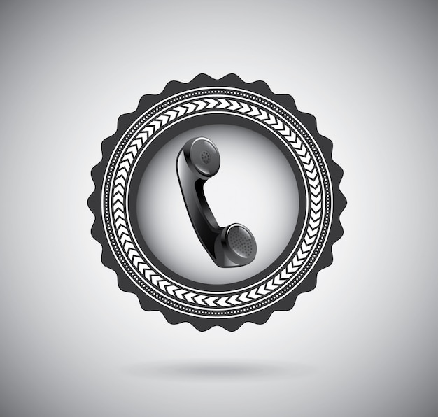 Phone, telephone, contact Free Vector