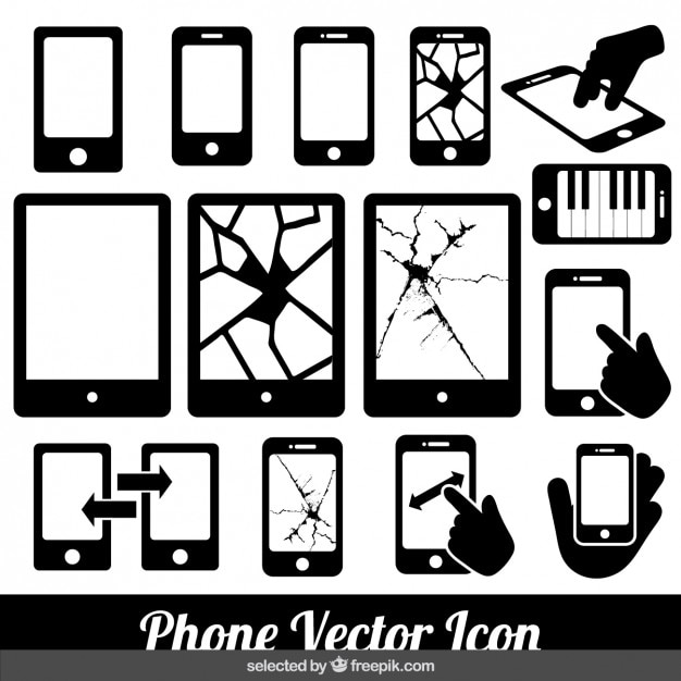 Phone vector icons Free Vector