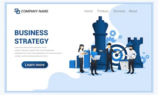 ビジネスマンおよび同僚は、ビジネス戦略を計画しています。ビジネスの比phor、リーダーシップ、目標達成。フラット図 Premiumベクター