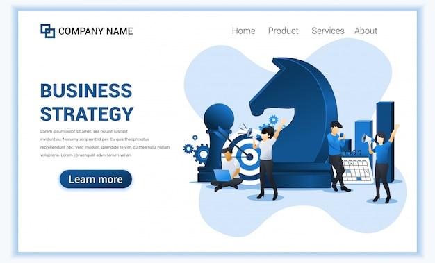 文字を使用したビジネス戦略。ビジネスの比phor、リーダーシップ、ビジネス管理、目標達成。フラットの図。フラット図 Premiumベクター
