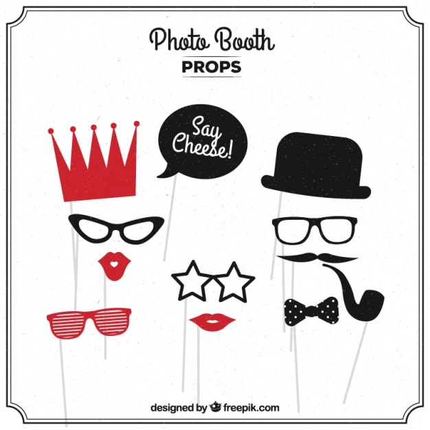 2f6bf5f8834 Photo booth collection Vector