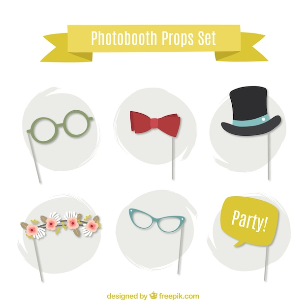 photo booth props collection vector free download