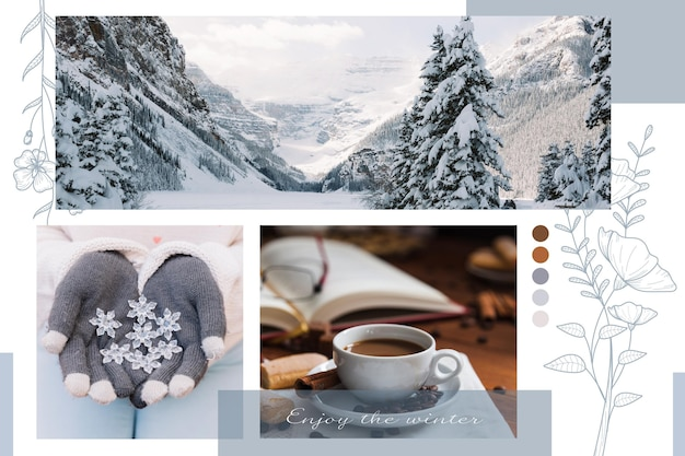 Photo collage concept Free Vector