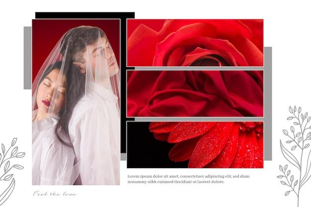 Дизайн фотоколлажа Бесплатные векторы