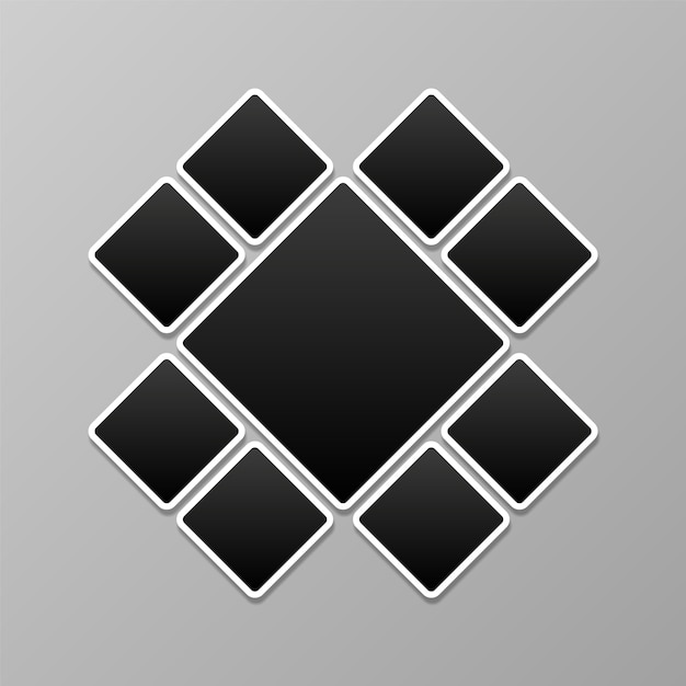 Photo Collage, Picture Frames Template Vector