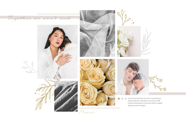 Tema collage fotografico Vettore gratuito