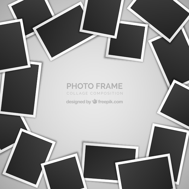 Photo frame collage concept Free Vector