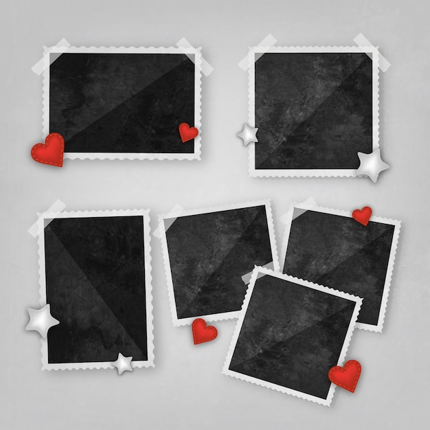 Photo frame collage in realistic style Vector | Free Download