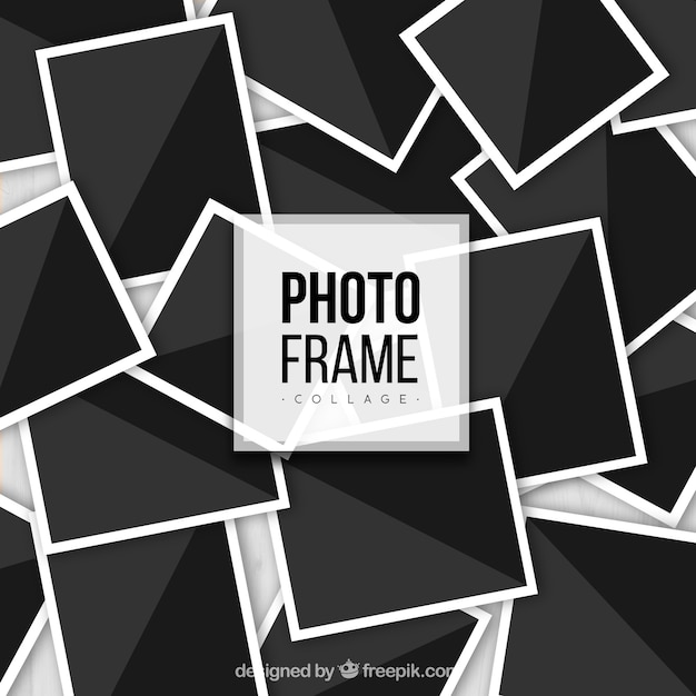 Photo Frame Collage In Realistic Style Vector