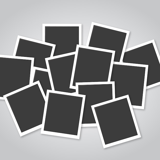 Photo frame collage with flat design Free Vector