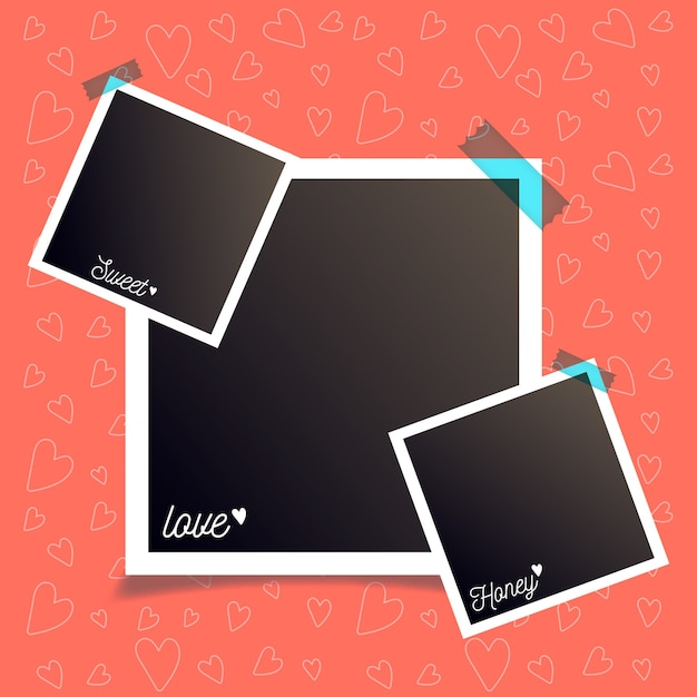 Photo frame collection Premium Vector