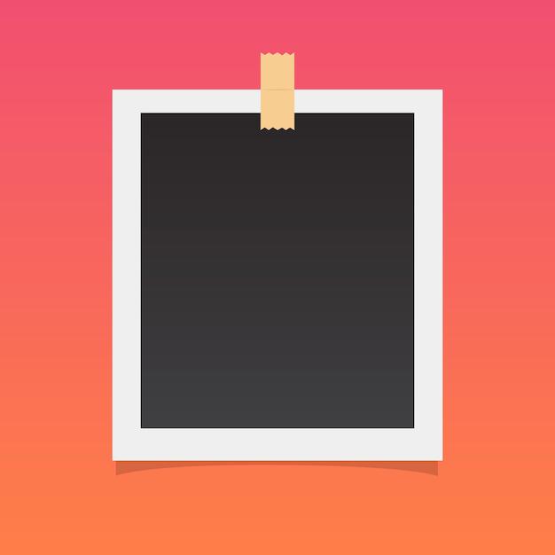 Поляроидная картинка Бесплатные векторы