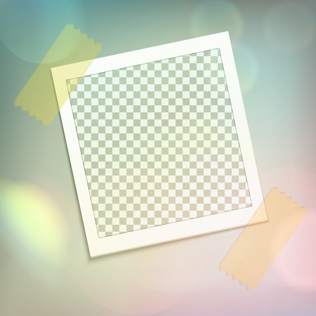 Photo frame realistic composition Free Vector