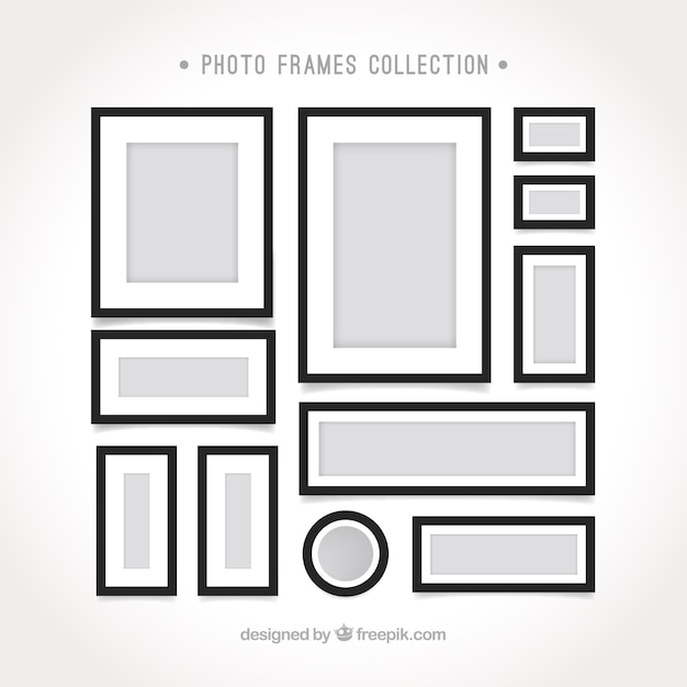 photo frame templates in flat design vector free download. Black Bedroom Furniture Sets. Home Design Ideas
