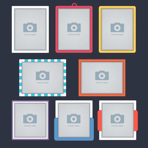 Photo frames collection Free Vector