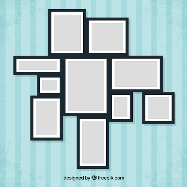 Photo frames in collage style Vector | Free Download