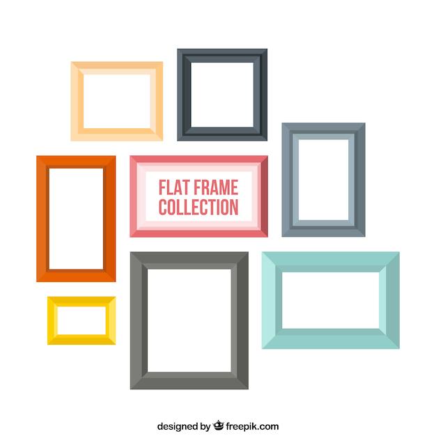Download Vector - Photo frames in flat design - Vectorpicker