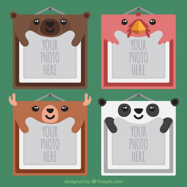 Photo frames of nice animals Vector | Free Download