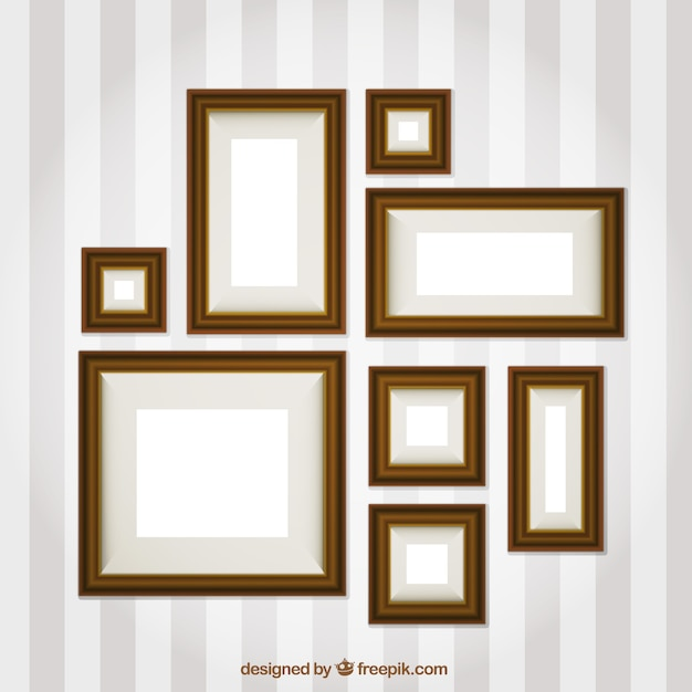 Photo Frames Set Of Different Sizes Vector Free Download