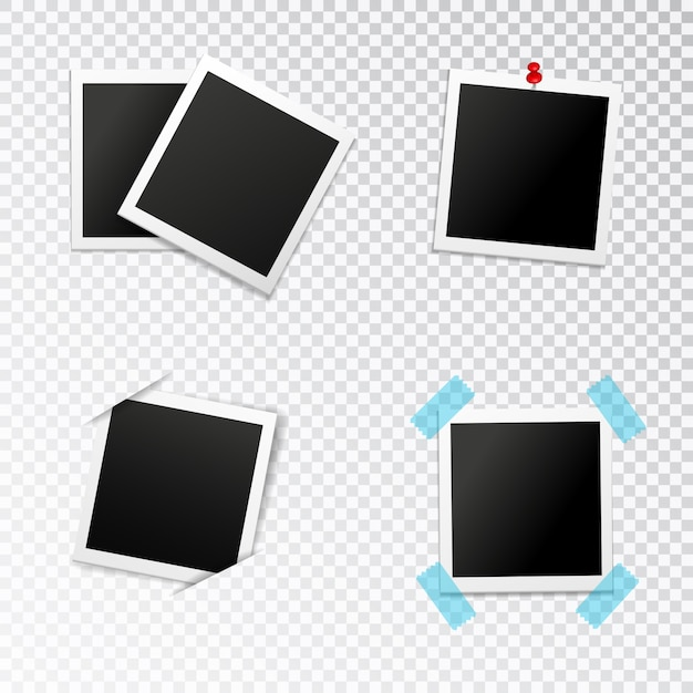 Photo frames set Free Vector