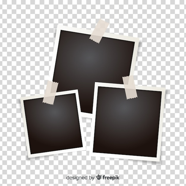Photo frames template Free Vector