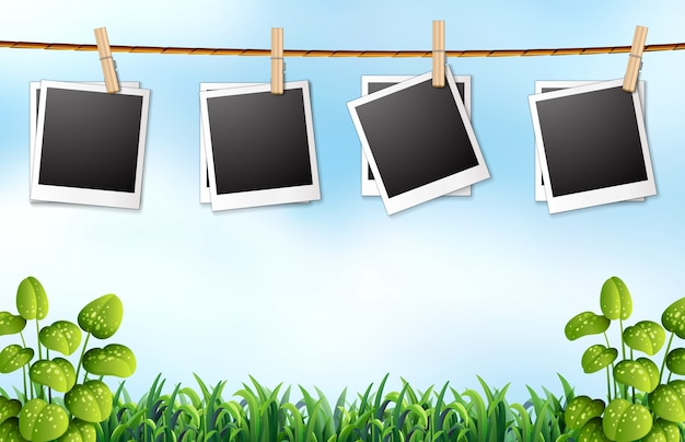 Photo frames Free Vector
