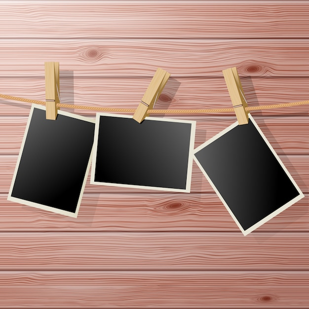 Photo frames Premium Vector