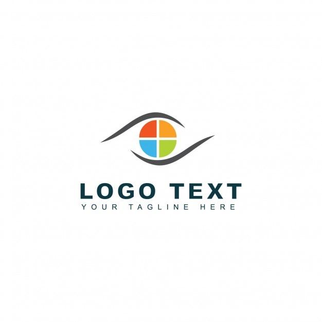 Photo media logo template Free Vector