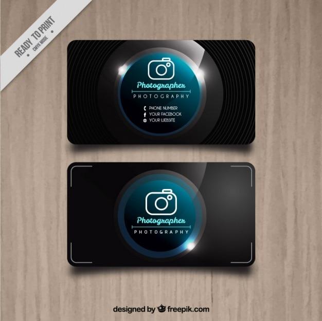 Photo studio bright card Premium Vector