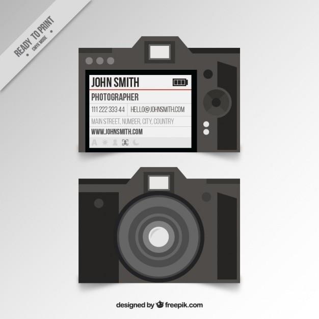 Photo studio card in flat design