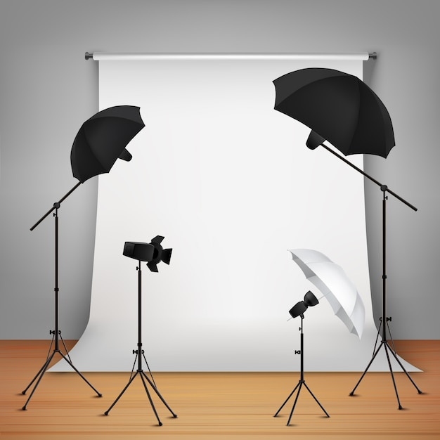 Photo studio design concept Free Vector