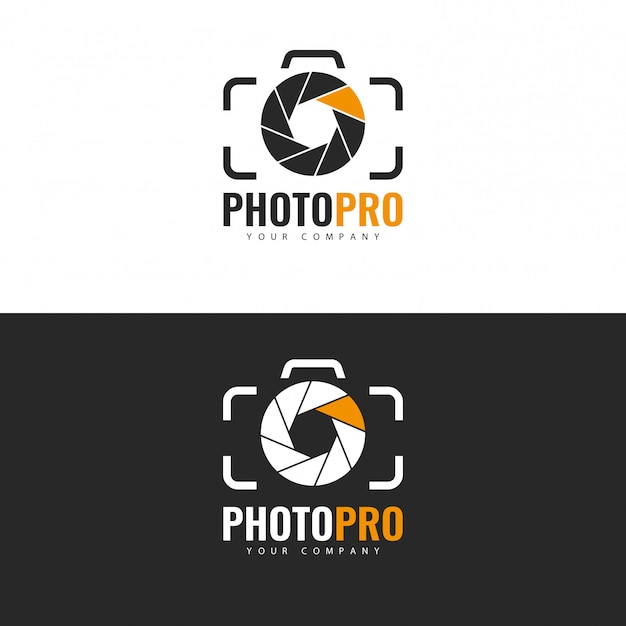 Photo studio logo design. Premium Vector