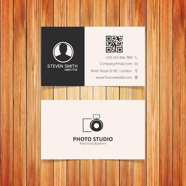 Photo studio minimal business card vector free download photo studio minimal business card free vector reheart Choice Image