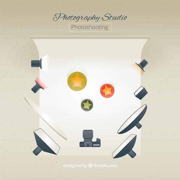 Photo studio with elements