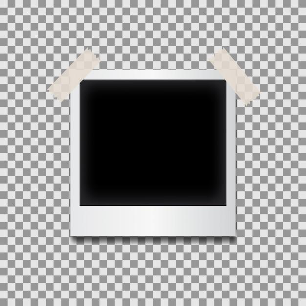 Blank Polaroid Photo Frame Isolated on Black and White background ...