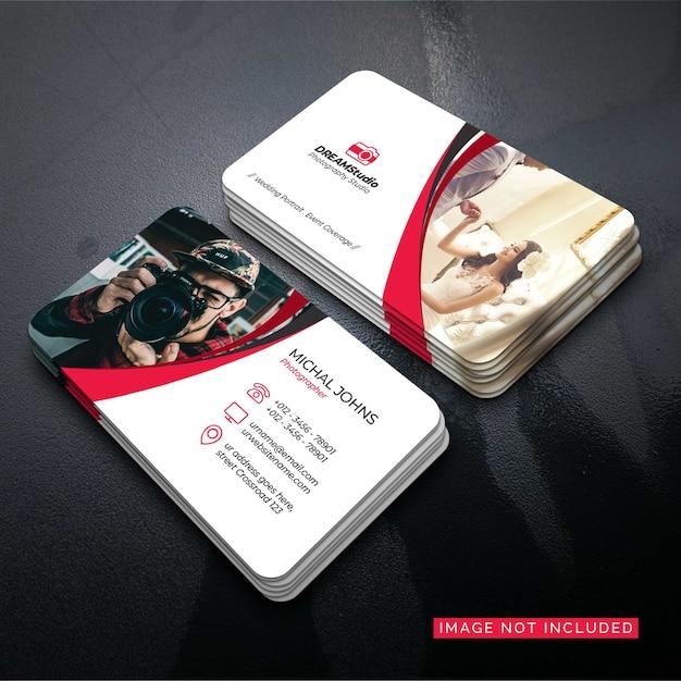 Photographer business card vector design Premium Vector