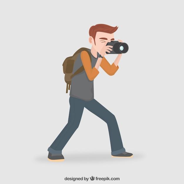 photographer illustration vector premium download