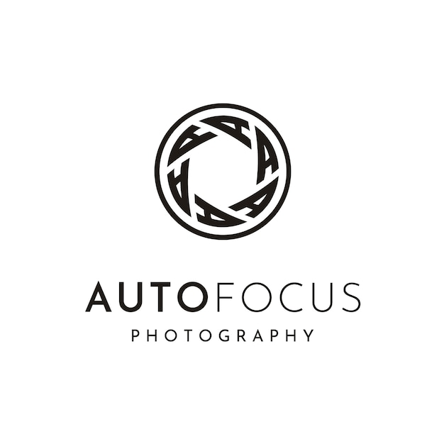 Photographer logo design Premium Vector