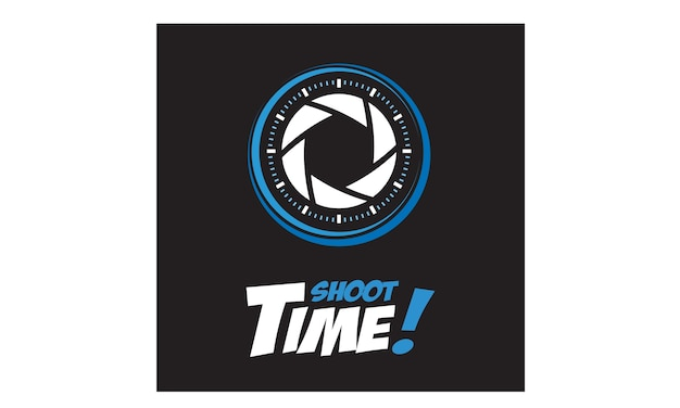 Photographer and time logo design inspiration Premium Vector